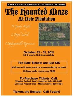 HAUNTED MAZE at Dole Plantation - Leilehua High School ...
